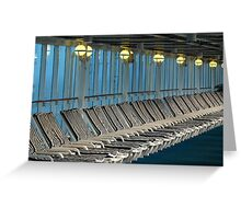 Parallel Parking - Deck Chairs Greeting Card