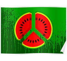 Watermelon Peace Poster