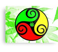 Reggae Love Vibes - Cool Weed Pot Reggae Rasta - Pouch T-Shirts and more Metal Print