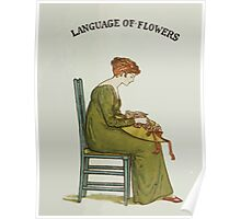 Language of Flowers Kate Greenaway 1884 0005 Title Plate 2 Poster
