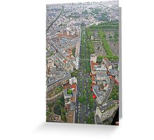 Paris From Above - Tour Montparnasse- Boulevard Edgar Quinet Greeting Card