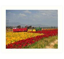 Tractor Ride Art Print