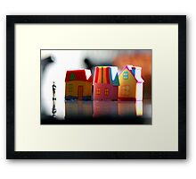 Once upon a town. Framed Print