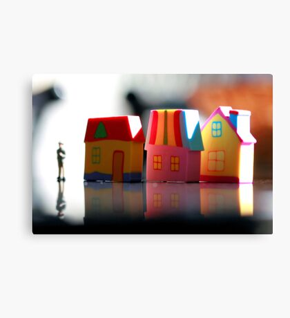 Once upon a town. Canvas Print
