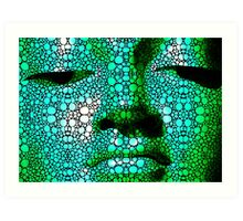 Green Buddha - Stone Rock'd Art By Sharon Cummings Art Print