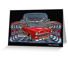 Multiple Chevy 2 Door Abstract Greeting Card