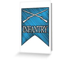Crossed Infantry Muskets Greeting Card