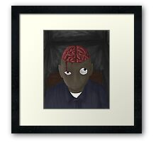 what's on his mind Framed Print