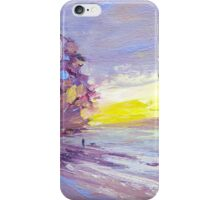 Sunset Beach Walk iPhone Case/Skin