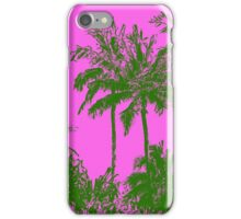 Makena Beach Hawaiian Sketchy Palms - Olive and Fuchsia  iPhone Case/Skin