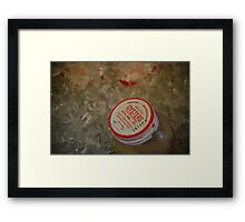 Freezing Oysters Framed Print