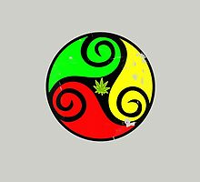 Reggae Love Vibes - Cool Weed Pot Reggae Rasta - Pouch T-Shirts and more by Denis Marsili - DDTK