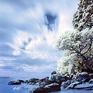 Onemana Beach infrared by Paul Mercer