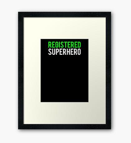 Civil War - Registered Superhero - White Clean Framed Print