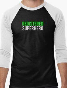Civil War - Registered Superhero - White Clean Men's Baseball ¾ T-Shirt