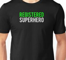 Civil War - Registered Superhero - White Clean Unisex T-Shirt