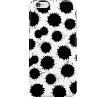 Inky Blots - Black on White iPhone Case/Skin