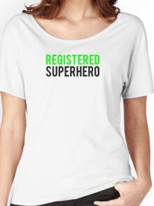 Civil War - Registered Superhero - Black Clean Women's Relaxed Fit T-Shirt