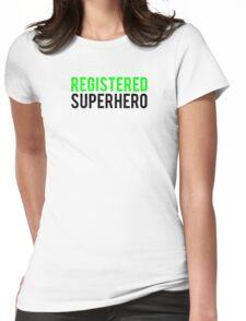 Civil War - Registered Superhero - Black Clean Womens Fitted T-Shirt