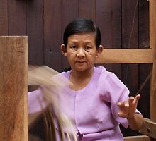 Weaving Woman  by Gorper