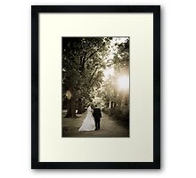 Taking a stroll Framed Print