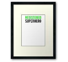 Civil War - Registered Superhero - Black Dirty Framed Print