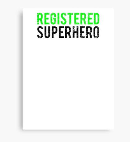 Civil War - Registered Superhero - Black Dirty Canvas Print