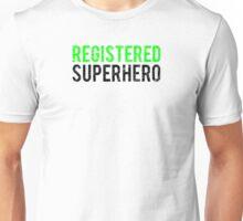 Civil War - Registered Superhero - Black Dirty Unisex T-Shirt