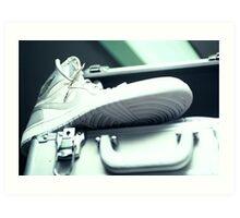 Jordan Hi - White/Silver Art Print