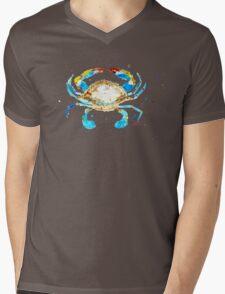 Blue Crab by Jan Marvin Mens V-Neck T-Shirt