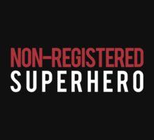 Civil War - Non-Registered Superhero - White Clean by garudoh