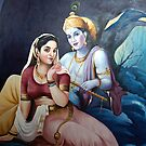 radha and krishna by sreedharomkaram