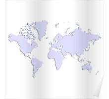World With No Borders - lavender Poster