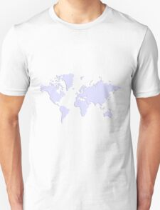 World With No Borders - lavender T-Shirt