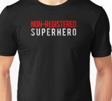 Civil War - Non-Registered Superhero - White Dirty Unisex T-Shirt