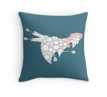wing flap glider Throw Pillow