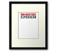 Civil War - Non-Registered Superhero - Black Clean Framed Print