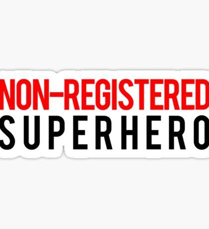 Civil War - Non-Registered Superhero - Black Clean Sticker