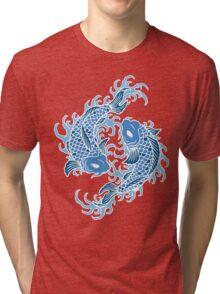 Blue Koi Fish T Shirt Tri-blend T-Shirt