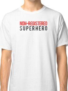 Civil War - Non-Registered Superhero - Black Dirty Classic T-Shirt