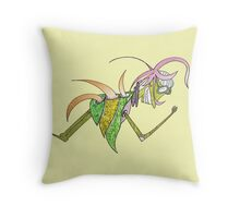 beetle back color glider Throw Pillow