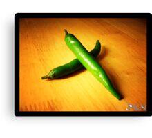 green chilli Canvas Print