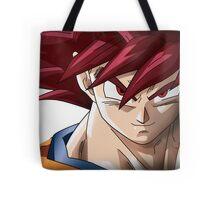 Goku Super Saiyan God Tote Bag