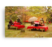 Japanese Picknick at Kyoto Canvas Print
