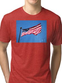 Old Glory - American Flag by Sharon Cummings Tri-blend T-Shirt