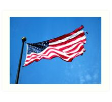 Old Glory - American Flag by Sharon Cummings Art Print
