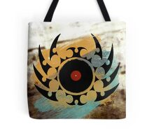 Retro Vinyl Records Music - Vinyl With Paint and Tribal Spikes - DJ TShirt Tote Bag