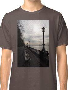 A Quiet, Peaceful Esplanade - New York City, Hudson River Classic T-Shirt
