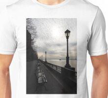 A Quiet, Peaceful Esplanade - New York City, Hudson River Unisex T-Shirt