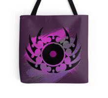 Retro Vinyl Records - Vinyl With Paint and Tribal Spikes - Music DJ TShirt Tote Bag